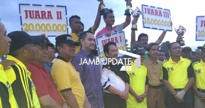 Tebo berhasil ke luar sebagai juara gubernur cup 2016