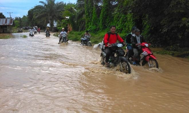 Banjir yang terjadi di Merangin beberapa waktu lalu