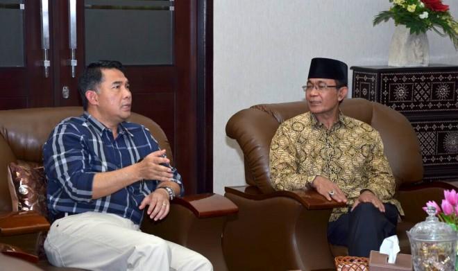Wali Kota Fasha berdialog dengan Wali Kota Mataram H. Akhiyar Abduh