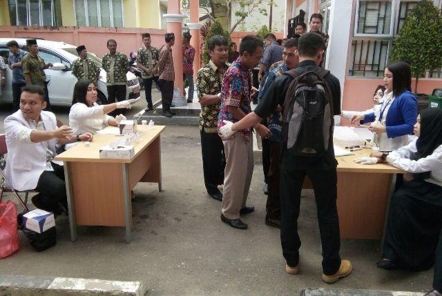 Tes urine di Dinas Kebersihan, Pertamanan dan Pemakaman (DKPP) Kota Jambi