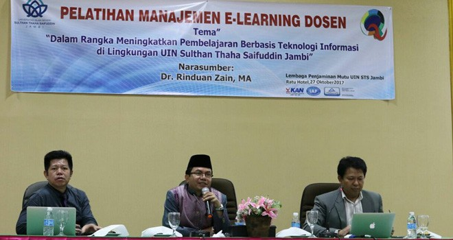 LPM UIN STS Jambi Gelar Pelatihan Managemen E-Learning Dosen.