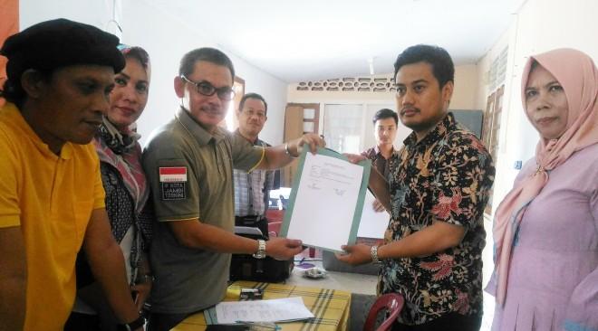 Tim advokasi Fasha-Maulana mendatangi Panwaslu Kota Jambi