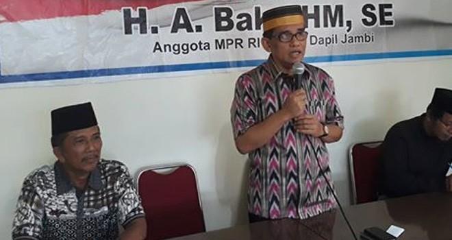 Anggota DPR RI H Bakri.