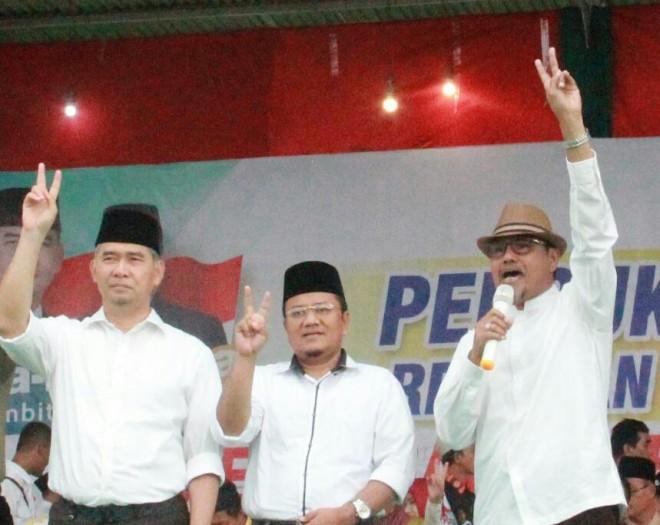 Mantan Bupati Tanjab Timur dua periode H Abdullah Hich yang menyatakan kesiapannya mendukung calon petahana