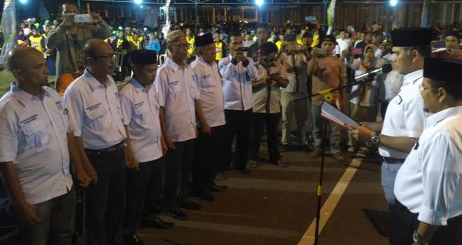 Ribuan Massa Hadiri Pengukuhan Relawan Pemenangan Fasha-Maulana Kecamatan Alam Barajo.