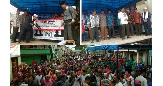 Masyarakat 9 Desa Kecamatan Air Hangat Timur Tetap Setia Dengarkan Visi dan Misi Paslon ADAM.