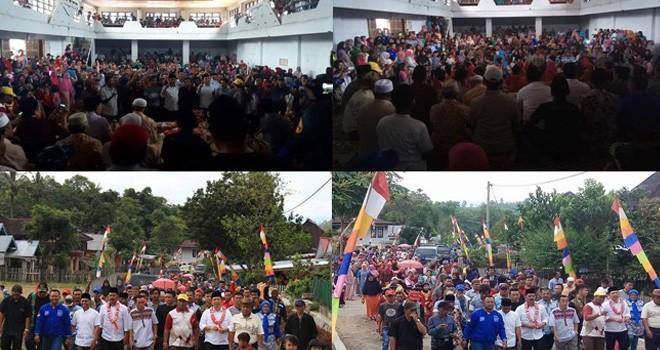 Pendukung Modis Membludak di Bukit Kerman.