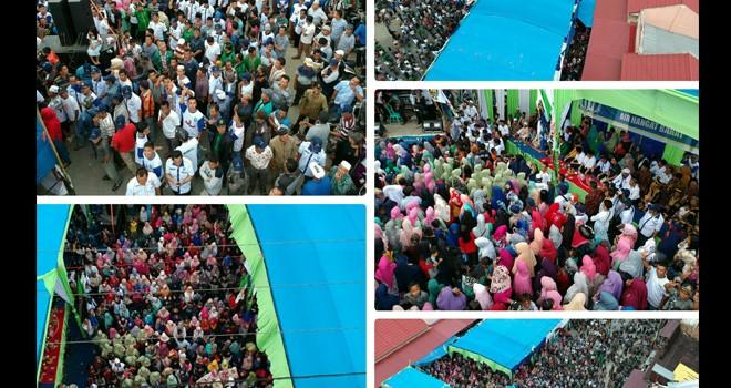 Pasar Semurup Jadi Lautan Massa ADAM.