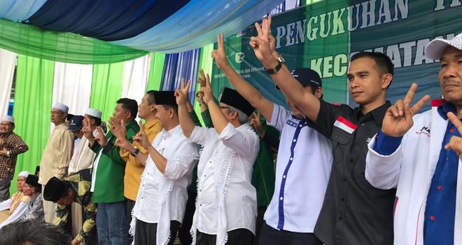 Wasekjen DPP PAN, Dipo Ilham Djalil hadir pada kampanye calon bupati Kerinci pasangan Adirozal-Ami Taher.
