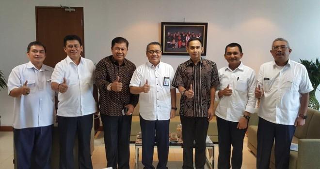 Dipo Ilham Djalil memfasilitasi pemerintah Kabupaten Sarolangun bertemu Dirjen Penyediaan Perumahan PUPR, Khalawi AH.