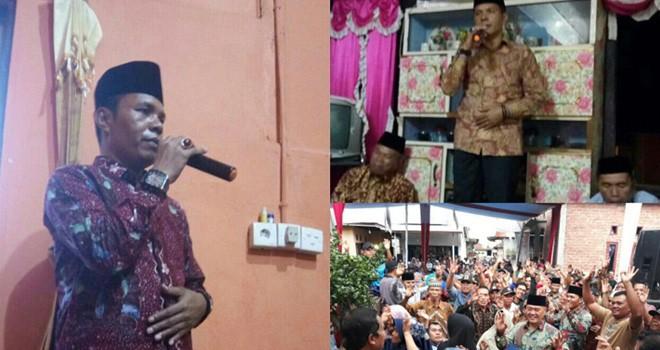 Sosialisasi pasangan calon Bupati dan Wakil Bupati Kerinci nomor urut 3, Zainal Abidin dan Arsal Apri.