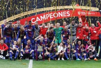 Barcelona juara Copa del Rey musim 2017-2018 (Twitter @FCBarcelona)