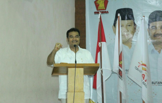 Ketua DPD Partai Gerindra Provinsi Jambi Sutan Adil Hendra (SAH)