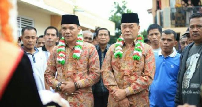 Calon Bupati dan Wakil Bupati Kerinci nomor urut 3, Zainal Abidin dan Arsal Apri.