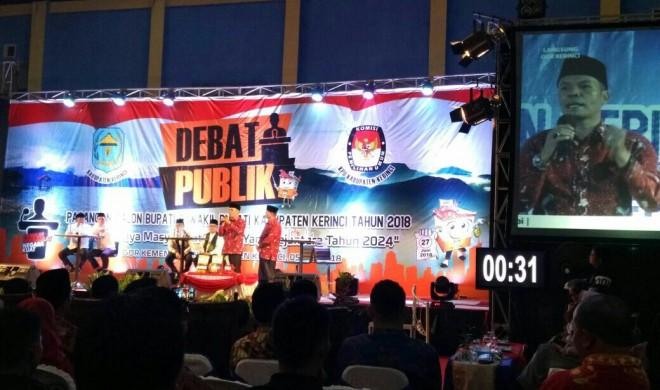 Debat publik calon bupati dan wakil bupati Kerinci.