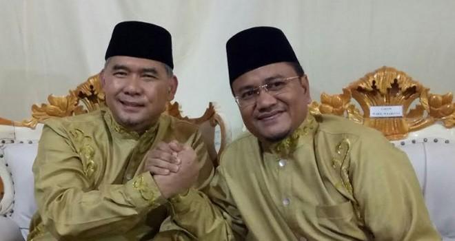 Pasangan calon petahan di Pilwako Jambi Sy Fasha-Maulana.