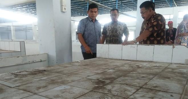 Komisi III, Dinas PUPR, Disperindag Kota Jambi cek pembangunan Pasar Baru Talang Banjar.