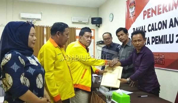 Partai Berkarya mendafta di KPU Provinsi Jambi.