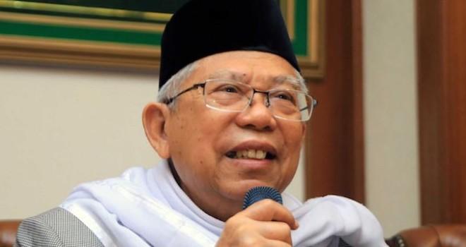 Ketua Umum Majelis Ulama Indonesia (MUI) KH Maruf Amin yang kini menjadi cawapres Joko Widodo, menyebut akan merangkul ulama alumni 212. (Fedrik/JawaPos.com)