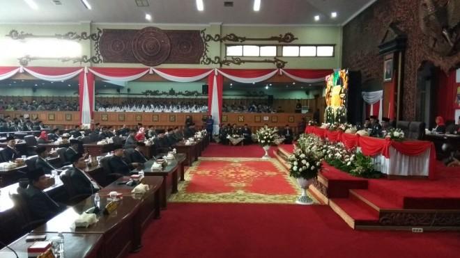 DPRD Provinsi Jambi Gelar Paripurna Istimewa Dengarkan Pidato Kenegaraan Presiden RI.