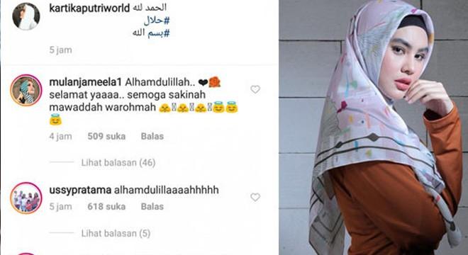 Kartika Putri dikabarkan sudah menikah diam-diam dengan Habib Usman Bin Yahya. Foto:Instagram
