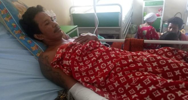 Korban pembacokan dirawat di Rumah Sakit Umum Daerah STS Tebo.
