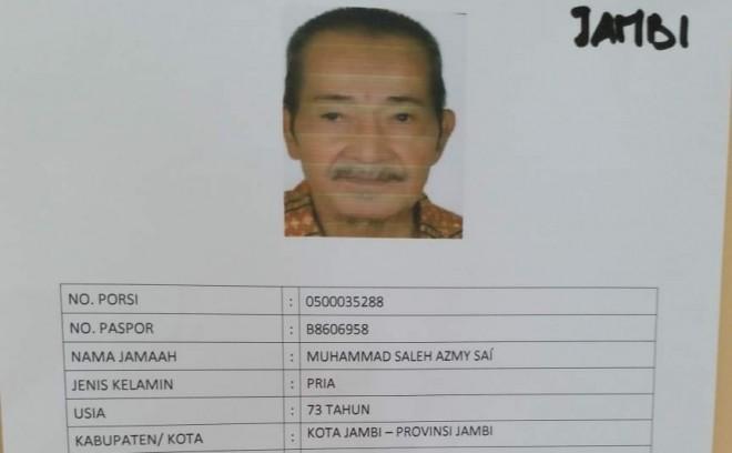 Jamaah Haji Kota Jambi Wafat Di Madinah.