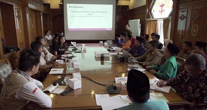 Audiensi bersama PLT Gubernur Jambi H Fachrori Umar.