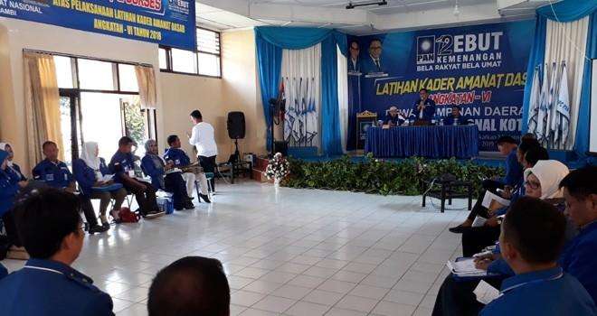 Latihan Kader Amanat Dasar (LKAD), bagi kader PAN yang mencalonkan diri sebagai Legislatif di Pemilu 2019 mendatang.