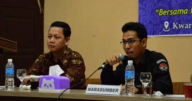 PEMILU : Ketua Bawaslu Kota Jambi, Ari Juniarman pada acara rapat koordinasi bersama jajaran dalam rangka menghadapi Pemilu 2019.