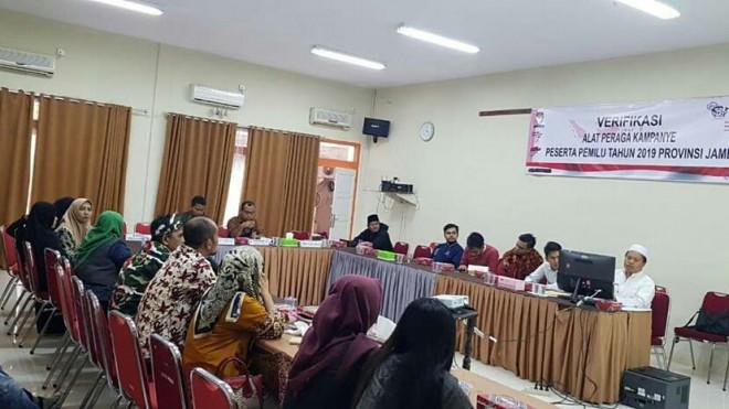 KAMPANYE : Komisi Pemilihan Umum (KPU) Provinsi Jambi menggelar rapat koodinasi persiapan kampanye. Jelang Januari, KPU ingatkan pelaporan dana kampanye Pemilu.