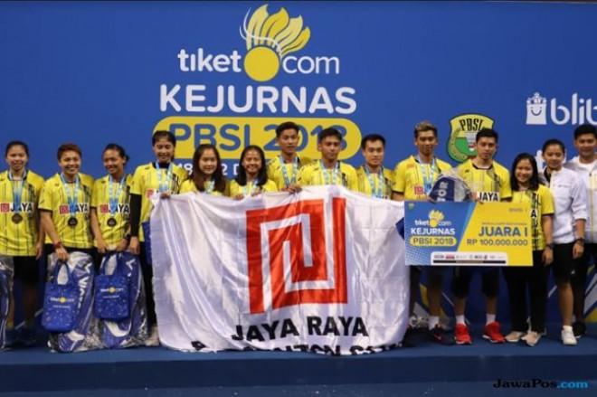 PB Jaya Raya Jakarta juara Kejurnas PBSI 2018. (Dery Ridwansah/JawaPos.com)