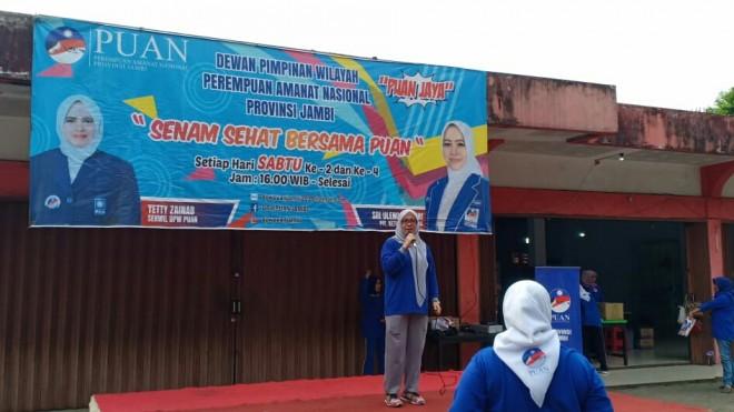Senam yang digelar rutin oleh PUAN Provinsi Jambi. (Foto: Ist)
