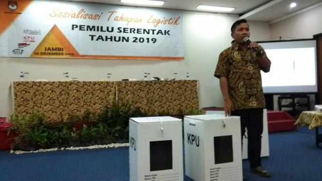 Komisioner KPU Provinsi Jambi, Apnizal, Rabu (26/12)