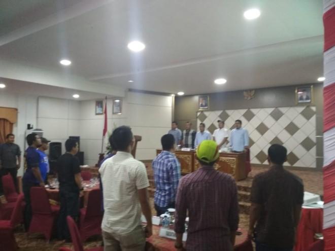 Manager Meeting turnamen sepakbola gubernur cup Jambi 2019 yang digelar tadi malam (26/12) di Merangin