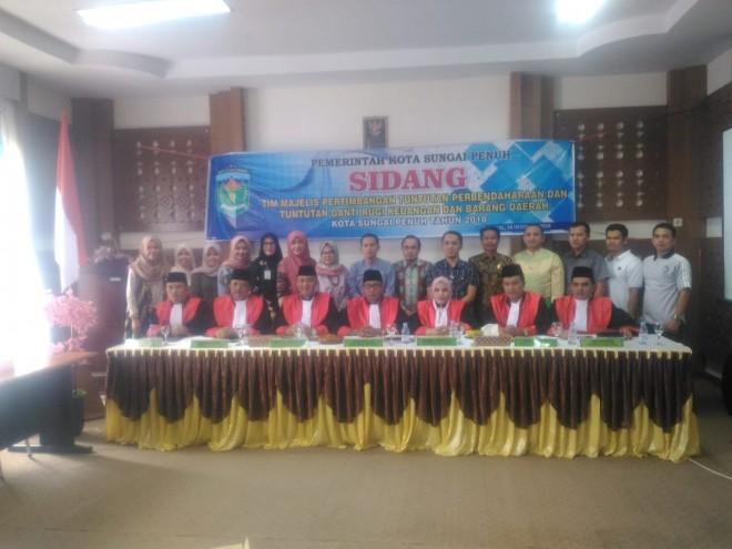Sidang TP-TGR Keuangan dan Barang Daerah Kota Sungai Penuh. Foto : Gusnadi / Jambiupdate