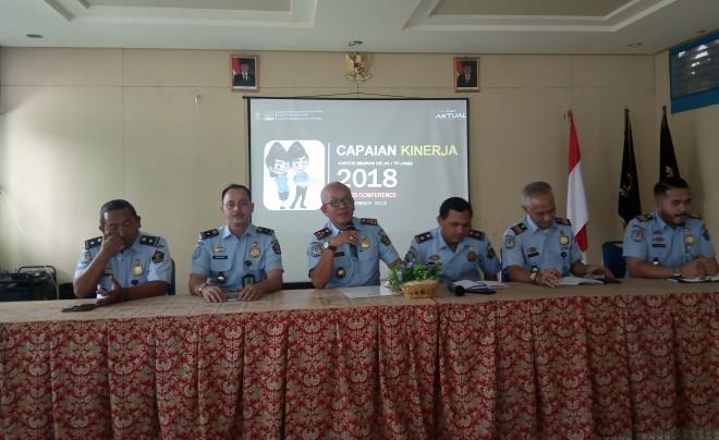 Konferensi pers Imigrasi Kelas I TPI Jambi. Foto : Andri / Jambiupdate