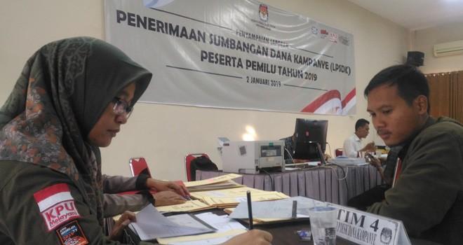 Penerimaan Sumbangan Dana Kampanye (LPSDK). Foto : Ist