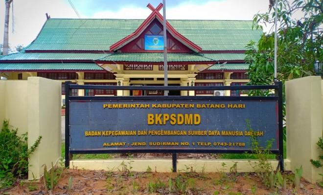 Kantor BKPSDMD Batanghari. Foto : Reza / Jambiupdate