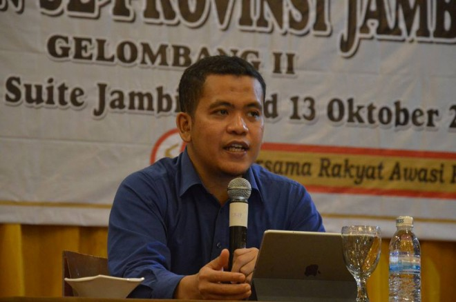 Pimpinan Bawaslu Provinsi Jambi Wein Arifin. Foto : Ist