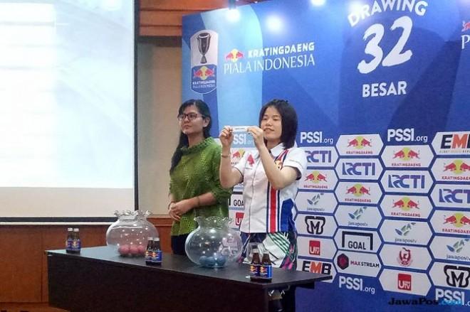 Pelaksanaan undian babak 32-besar Piala Indonesia 2018 di Hotel Sultan, Jakarta, Selasa (8/1) (Bintang Rahmat/JawaPos.com)