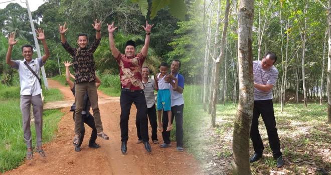 Anggota DPR dari Fraksi PDIP, Ihsan Yunus melakukan kunjungan ke Desa Kemingking, Kecamatan Taman Rajo, Kabupaten Muaro Jambi, Kamis (17/1). Foto : Ist