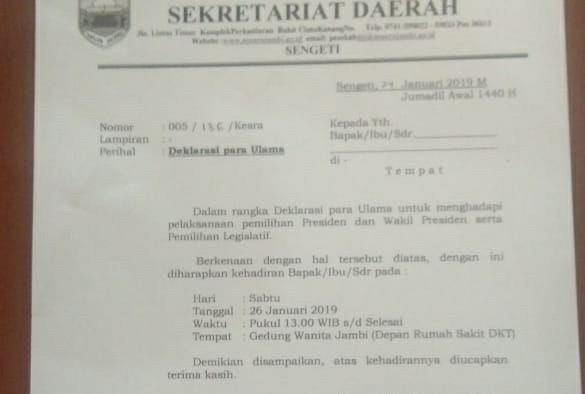 Undangan Dai dan Ustad dari Pemkab Muaro Jambi. Foto : Ist