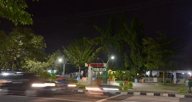 Taman Jaksa yang dibangun Pemerintah Kota Jambi 2018 lalu. Tahun ini Pemerintah Kota Jambi akan menambah 11 taman lagi dengan anggaran Rp 9 M. Foto : M Ridwan / Jambi Ekspres