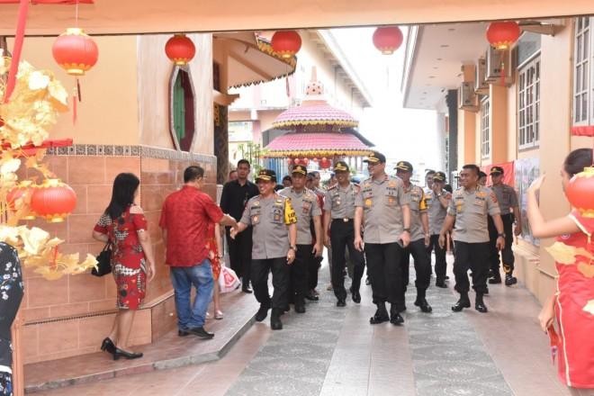 Kapolda Cek Pengamanan Perayaan Imlek di Kota Jambi. Foto : Ist For Jambiupdate