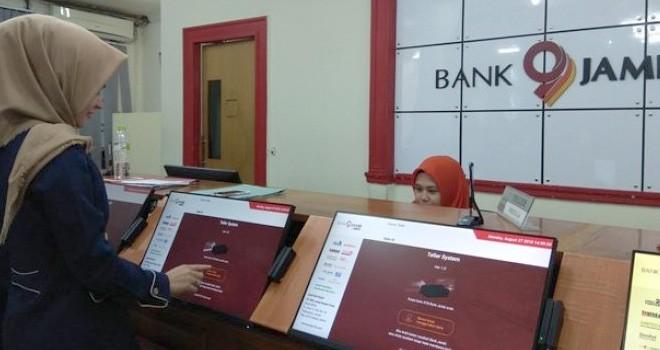 Transaksi Bank Jambi Mobile mengalami peningkatan cukup signifikan. Foto : Ist