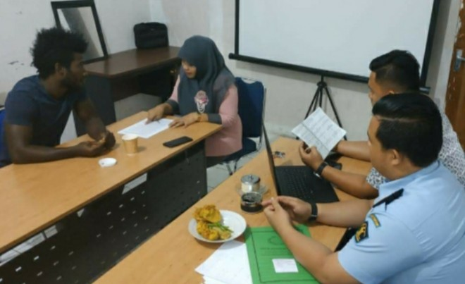Eks Pemain Arema Ditangkap Imigrasi Kerinci. Foto : Gusnadi / Jambiupdate