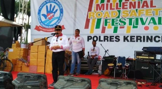 Wako AJB Ajak Generasi Millenial Peduli Keselamatan Lalu Lintas. Foto : Gusnadi / Jambiupdate
