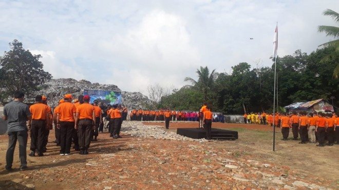 Polda Jambi Gelar Upacara Hari Peduli Sampah di TPA Talang Gulo. Foto : Doni Saputra / Jambiupdate