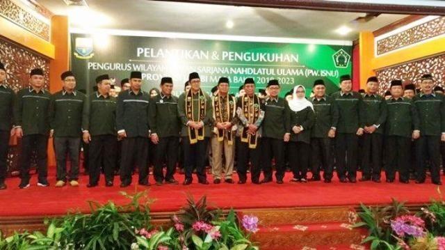 Pelantikan dan Pengukuhan Pengurus Wilayah Ikatan Sarjana Nahdlatul Ulama (PW ISNU) Provinsi Jambi, (23/2).